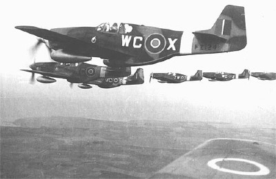 No. 309 Sqdn Mustang III formation